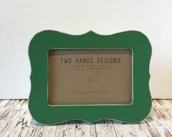 4x6 Distressed Picture Frame, 35 colors to choose from