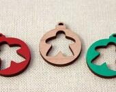 Small Meeple Christmas Ornament Set of 3