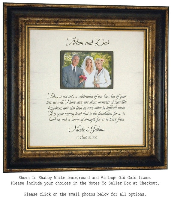 Personalized Picture Frame, Parents Thank You, Gift MOM & DAD, Today A Celebration, Decor, Decorations, Bridal Showers, 16 X 16