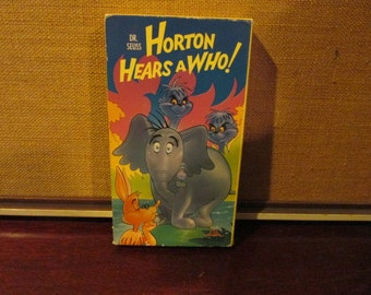 Collectible Tested and Working Dr. Seuss Horton Hears a Who! MGM VHS Tape Vg to Ex Condition 1989