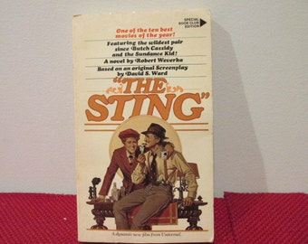 Vintage Paperback Book The Sting Based on the Screenplay by David S. Ward