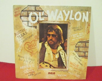 Ol' Waylon Waylon Jennings Album Collectible Vinyl Record VG to EX Condition