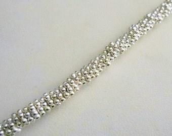 Bright Silver Daisy Spacer - 5mm - .999 Silver Over Copper