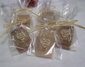 rustic wedding favors,  Mini soaps with cello bags, organic, handmade soap, set of 50