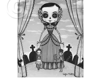 Natalia The Puppeteer 8x10 print by Lupe Flores