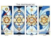 The Matriarchs - Sarah, Rebecca, Leah, and Rachel - Judaica Jewish Hebrew Art Signed Bat Mitzvah Gift Print by Adam Rhine