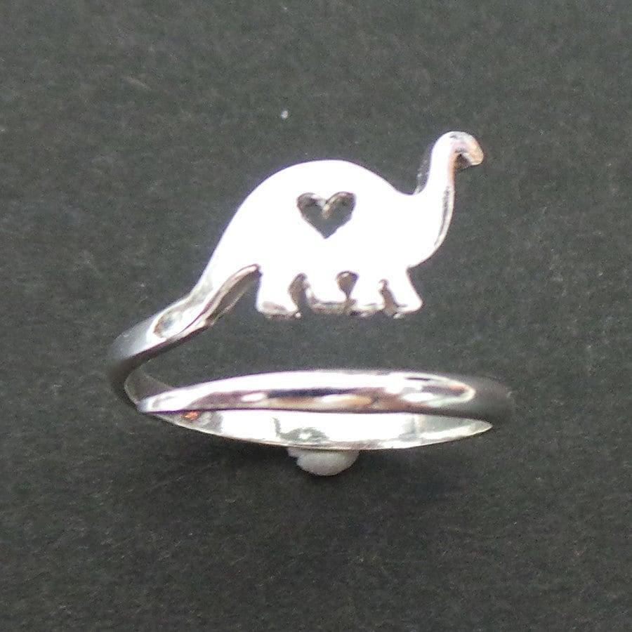 dinosaur ring dinosaur wedding band Jurassic Brachiosaurus Dinosaur Ring in Silver Dinosaurios Dino Ring Simple Cute and Kawaii Jewelry Children Gift