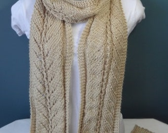 Soft Knit Scarf and Matching Headband Ready to Be Shipped