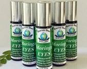 Moringa EYES Caffeinated Herbal Roll On Eye Serum. Under Eye Puffiness, Dark Circles, and Crows Feet. Natural. .33 fl oz Applicator.