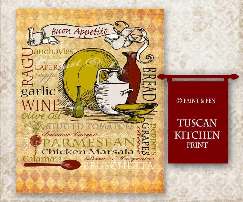 tuscan kitchen decor tuscan wall italian kitchen sign