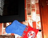 Reversible Red Sox / New England Patriots Christmas Stocking