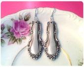 Flirtation, 1959 Spoon Earrings, Vintage, Upcycled, Bridesmaid Gift, Vintage Wedding