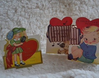 Vintage Valentines set of 2 1938 Ameri-card