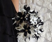 Mod Feather Flowers - Alternative Forever Flowers - Home Decor - Wedding Flowers