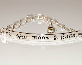 Sterling silver message bracelet, personalized silver bracelet, custom silver message jewelry, silver bracelet, engraved bracelet, 925