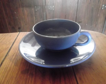 large VINTAGE CAPPUCCINO CUP and saucer, Secla Portugal, barista, collectibles