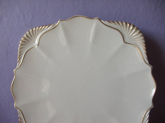 Lenox Wedding Gifts: Vintage Lenox China Seashell Platter 15 Platter By