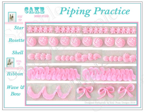 Items similar to Piping Practice Placemat. Printable Icing ...
