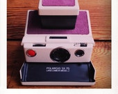 Polaroid SX-70 Model 2 Land Camera W/ Mauve Jean Covering - GUARANTEED WORKING