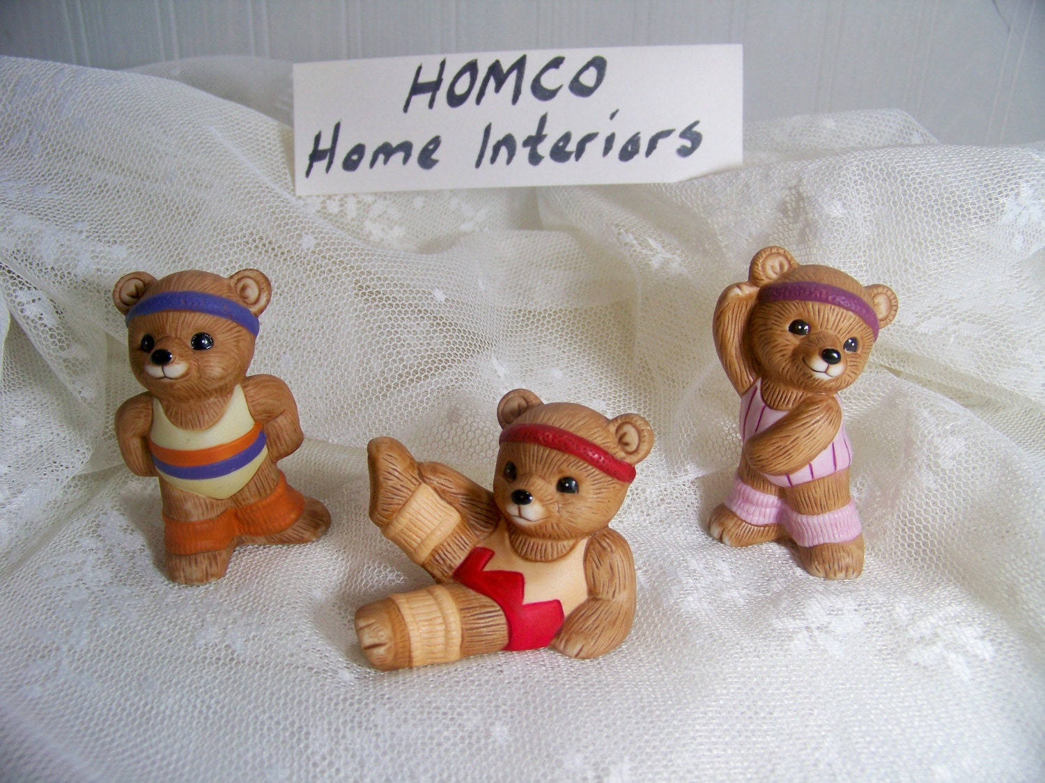 home interior bears home interiors bears aerobic bears homco 12179