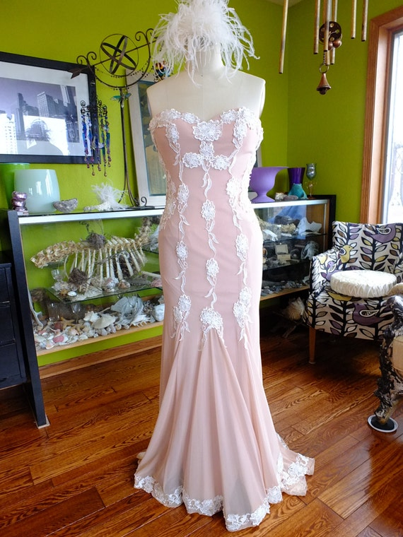 SALE PRICE Great Gatsby 1920s Flapper Wedding Dress Lace