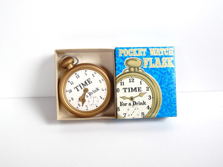 pocket flask novelty gift clock flask gift