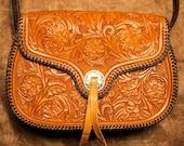 Ultra-Detailed Laced Leather Shoulder Bag