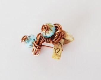 "Copper Rosette Small Post Earrings, ""Molly,"" 100% Copper"
