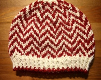 Candy Cane Chevron Hat