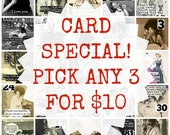Blank Greeting Card Special!  Choose Three for Ten Dollars