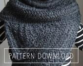 KNITTING PATTERN // Knit Cowl // Archer's Poncho Knitting Pattern // Knit Cowl Pattern // The Huntress Cowl