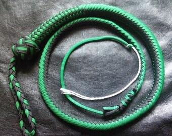 3Ft Black and Custom Color Snake Whip
