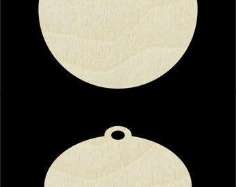 Unfinished Wooden Christmas Ornaments Ready for Your Artwork - (SH-312)