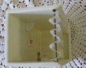 Doll House Miniature Ceramic Shower Stall