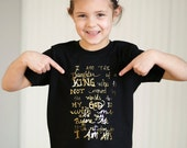 I am His - Gold Foil - girls graphic tee - 2t to 6