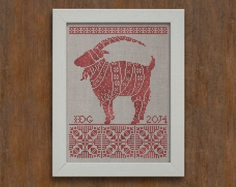 Julbocken - The Yule Goat - Instant Download PDF cross-stitch pattern