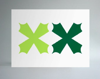 Untitled (Abstraction) – Lime & Evergreen
