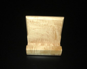 iPad iPhone Stand - Cats Eye Maple - Can be Customized