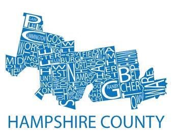 Typographic Map of Hampshire County, Massachusetts