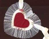 Half apron  sexy apron  heart apron  valentines day gift