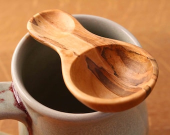 Wooden spoon, wood utensil, kitchen utensil, coffee scoop, measuring spoon, 1 tablespoon