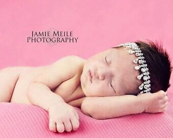 """Rhinestone Baby / Adult Tie Back  : """"Clara"""" Newborn Photo Prop... Newborns Toddlers Birthday"""