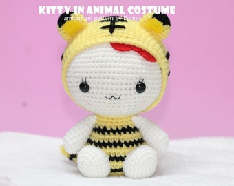 INSTANT DOWNLOAD PDF Pattern: Kitty in Tiger Costume / Chinese Zodiac Tiger
