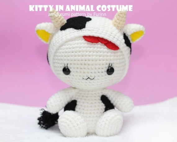 INSTANT DOWNLOAD PDF Pattern: Kitty in Ox  Costume / Chinese Zodiac Ox