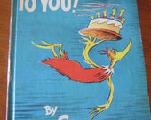 1959 Dr Suess Book Happy Birthday To You