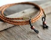 Leather Eyeglass Chain, Mens Eyeglass Chain,Lanyard, Leather Lanyard, Mens Lanyard-Mens Accessories- Mens Eyewear,For Him-Gifts for Men