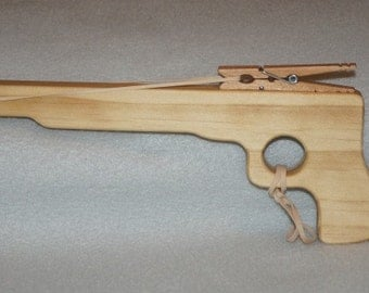 Wooden Toy Rubber Band Pistol