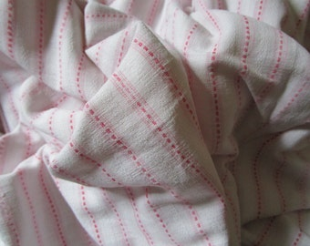 Vintage French Faded Pink and White Stripes Suitable for Patchwork Quilting Lavender Bags Feedsack Pillow
