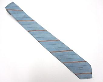 """Blue Gold Necktie 3"""" Wide Tie"""
