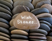 100 Wish Stones Guest Book Stones Wedding Beach Stones Flat Rocks Wedding Table Decor Beach Wedding Decor Craft Stones - 1.5 inch